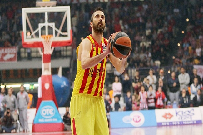 Juan-Carlos-Navarro / EUROLEAGUE / PLAY OFF / OLYMPIAKOS - BARCELONA